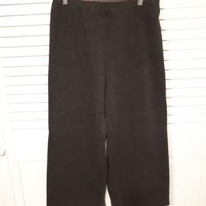 Jersey cropped grey pants. M
